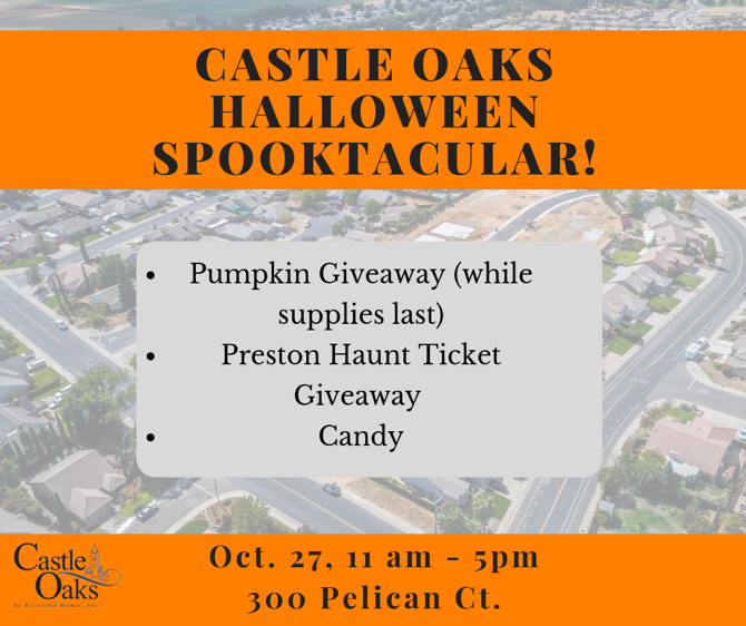 Castle Oaks Home Community to host Halloween Spooktacular Event!